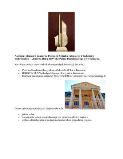Nagroda I stopnia - Budowa Roku 2009-1